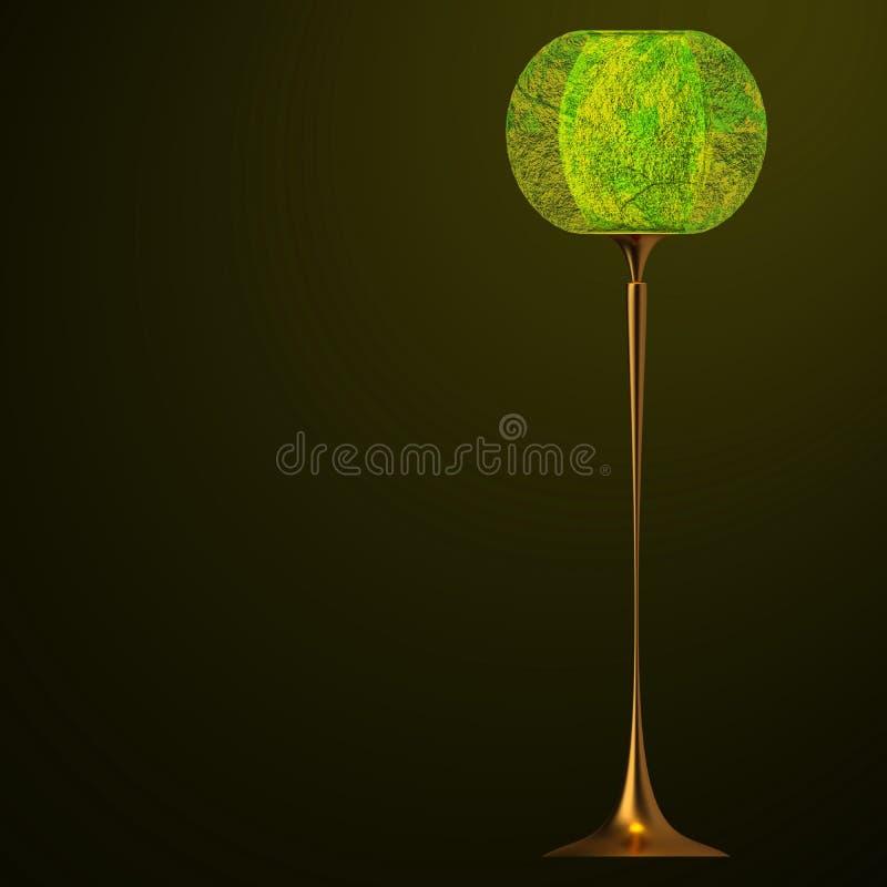 Lampe de table de vintage illustration de vecteur