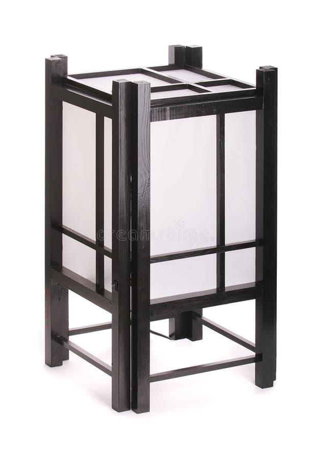 Lampe de table japonaise photographie stock