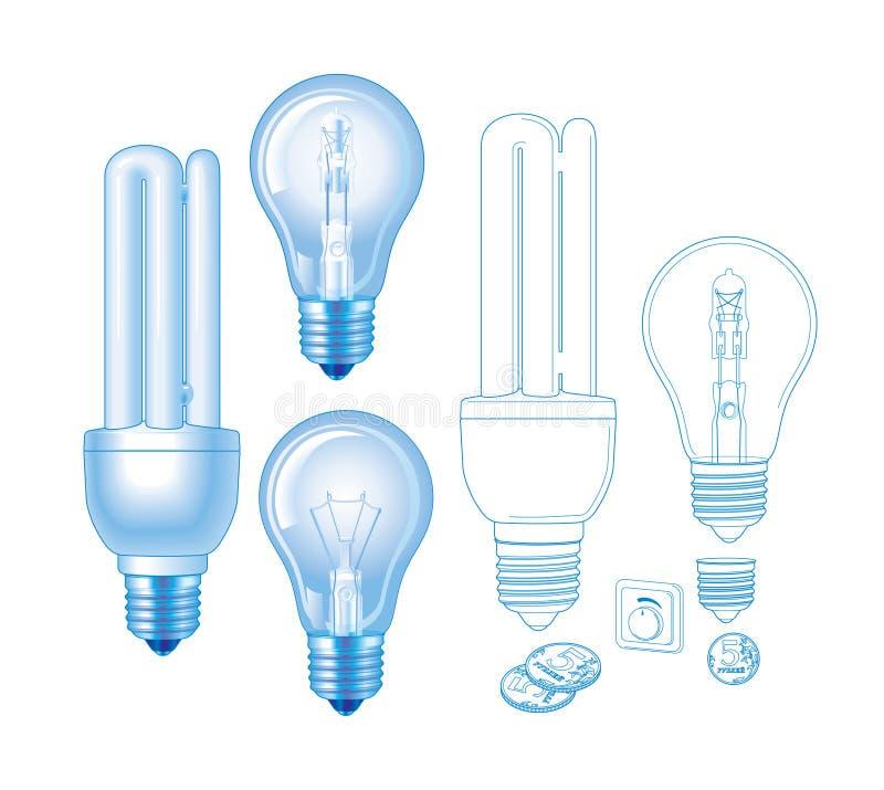 Lampe de vecteur images libres de droits
