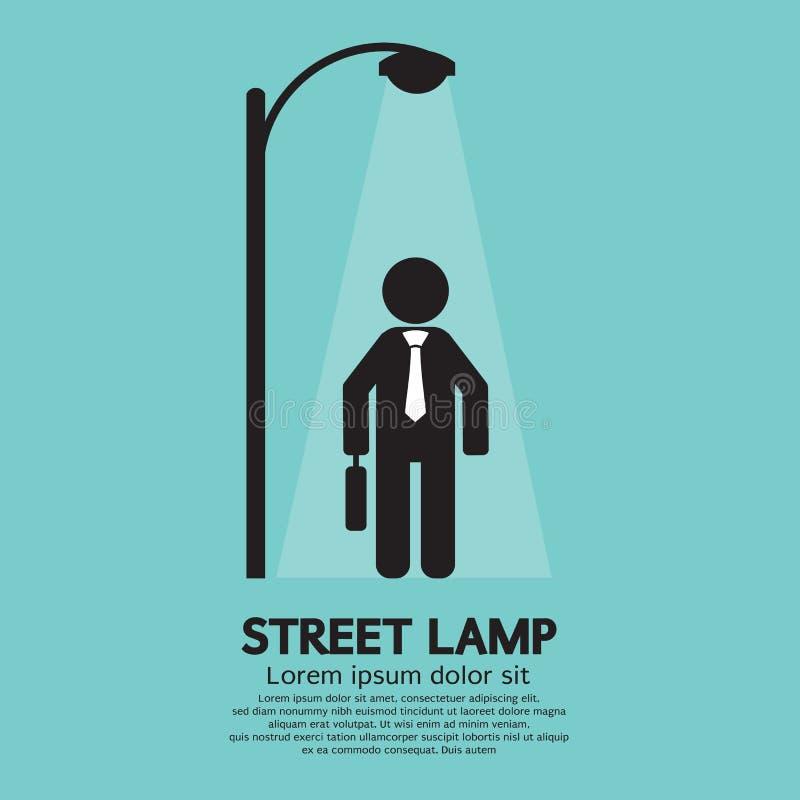 Lampe de Walking Under Street d'homme d'affaires illustration stock