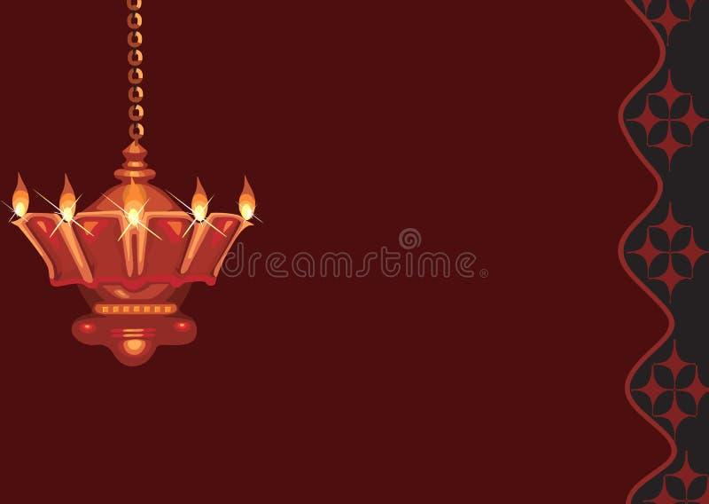 Lampe divine d'or s'arrêtante illustration libre de droits