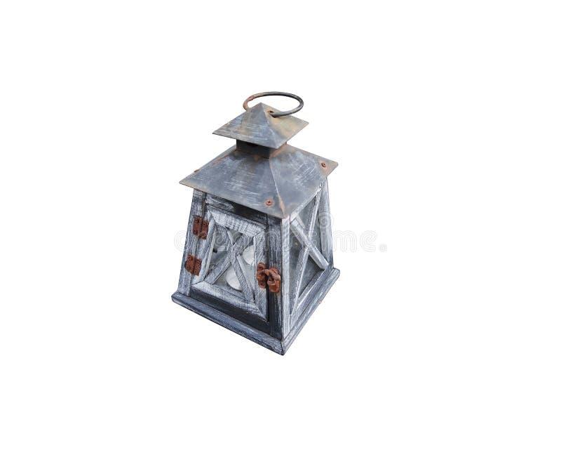 Lampe en bois de vintage images stock
