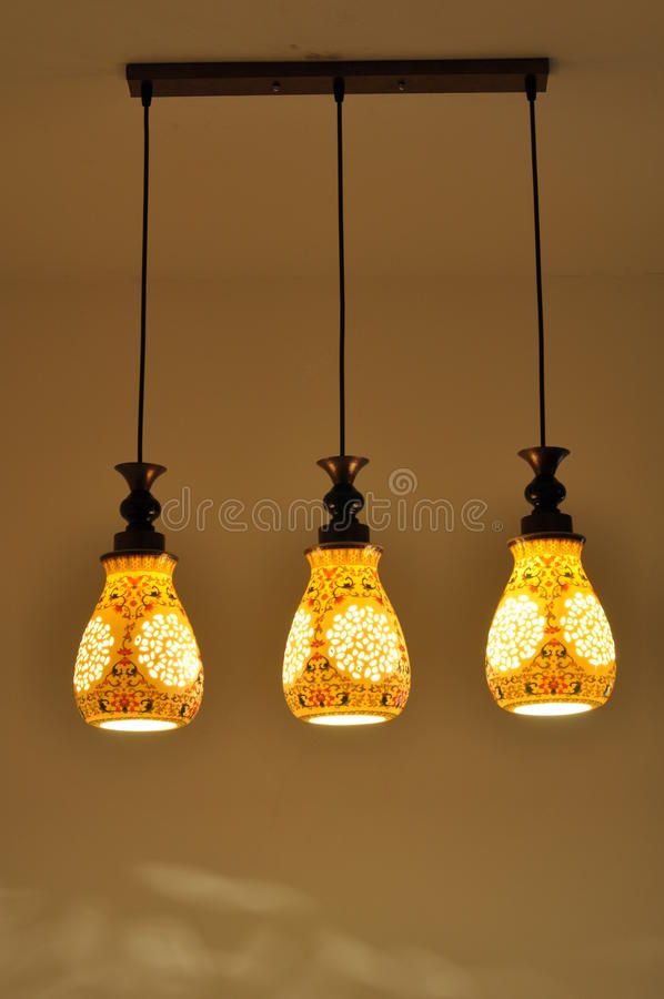 Lampe en céramique de style chinois photographie stock