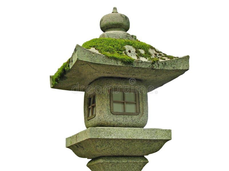 Lampe en pierre japonaise image stock