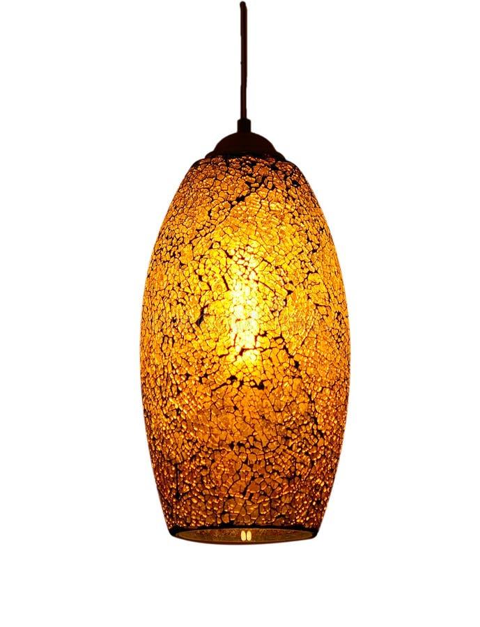 Lampe jaune-clair lumineuse image stock