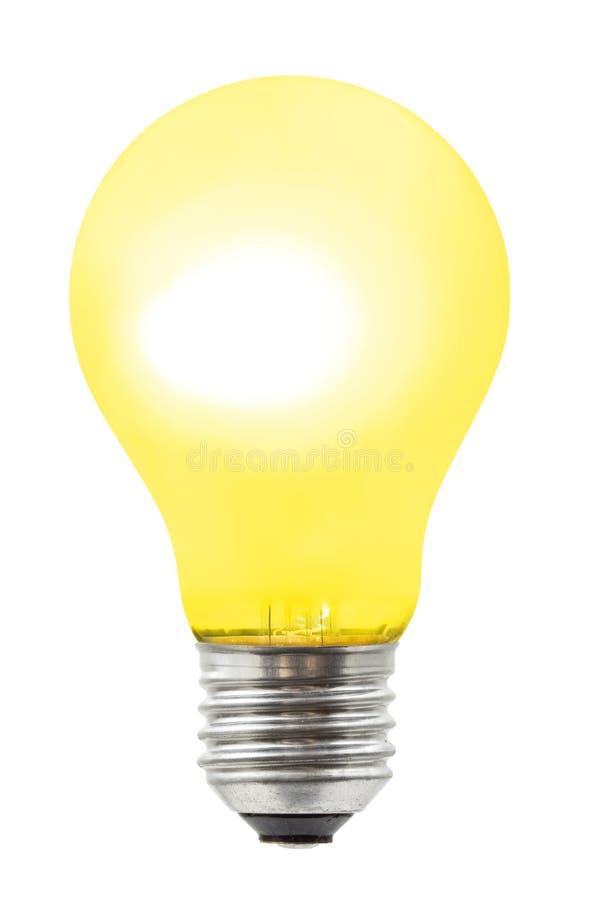 Lampe jaune d'éclairage photo libre de droits
