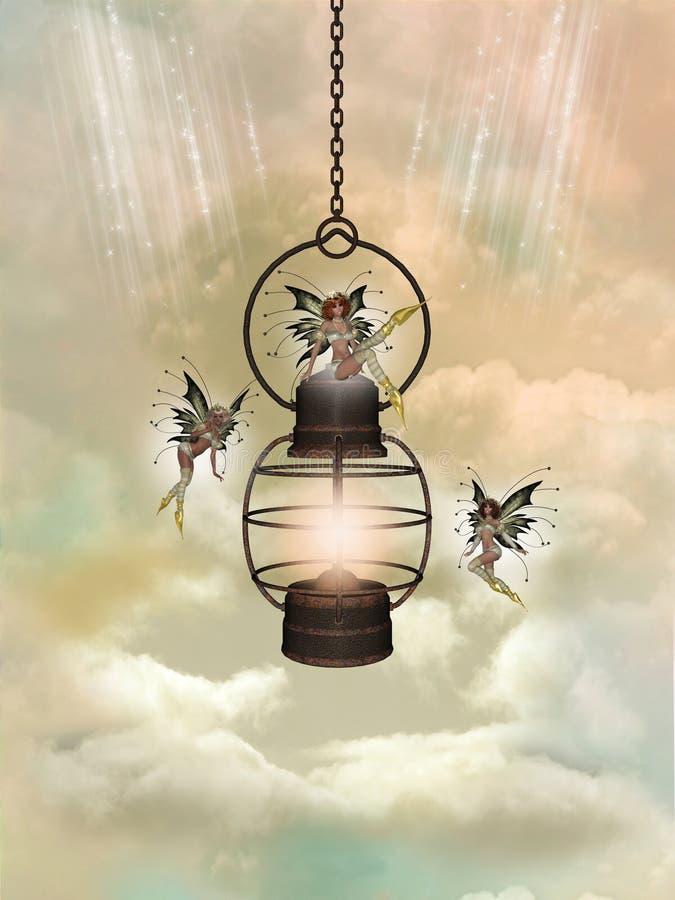 Lampe magique illustration de vecteur