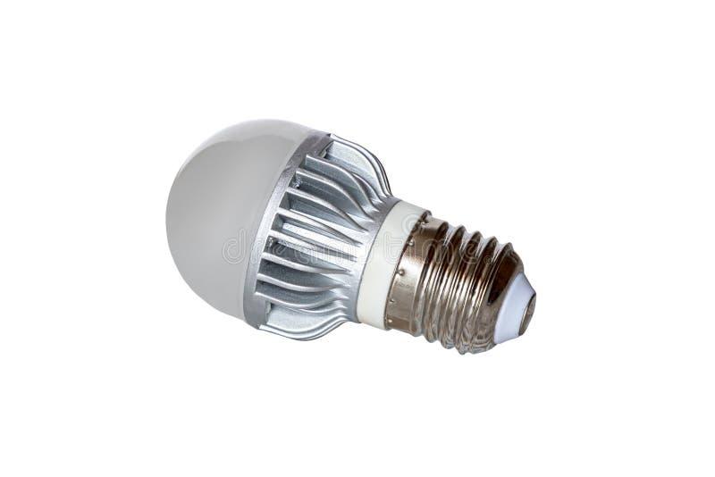 Lampe men?e avec le radiateur en m?tal d'isolement sur le fond blanc image libre de droits