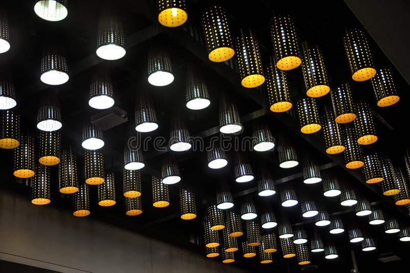 Lampe moderne de lumière de tir sur le toit images libres de droits