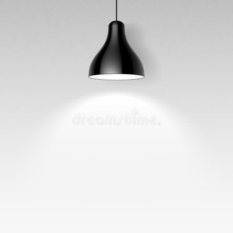 Lampe noire de plafond illustration libre de droits