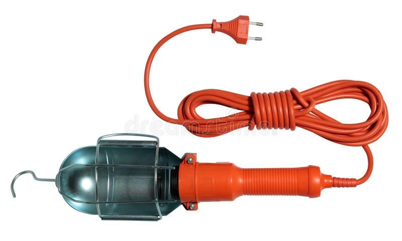 Lampe portative avec un crochet et un long fil image libre de droits