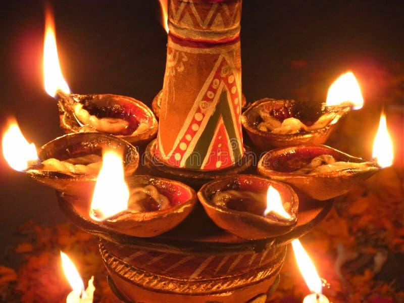 Lampe pour Diwali - Deepavali photographie stock libre de droits