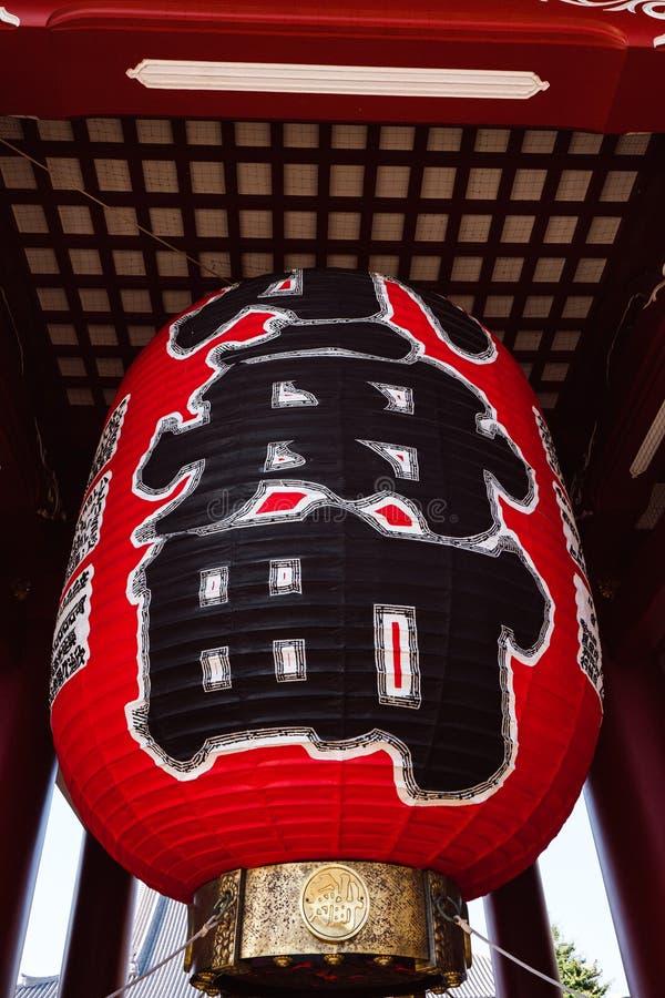 Lampe rouge au temple de Sensoji photo libre de droits
