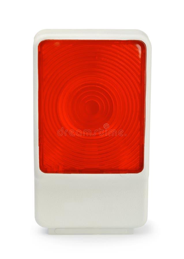 Lampe rouge de voiture d'isolement sur le blanc photo libre de droits