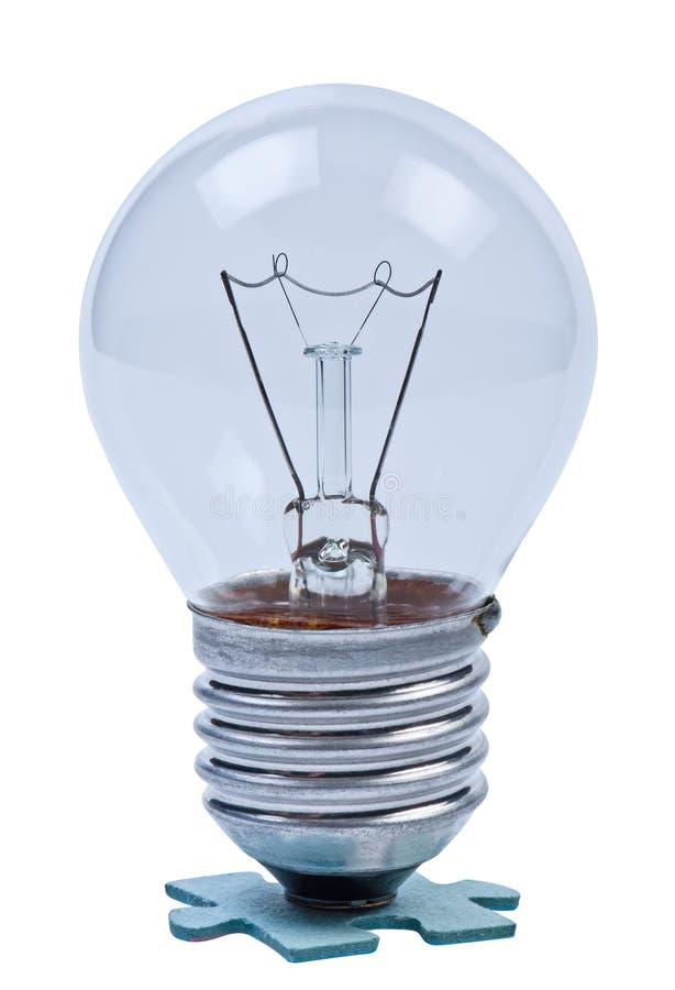 Lampe sur le puzzle. image stock