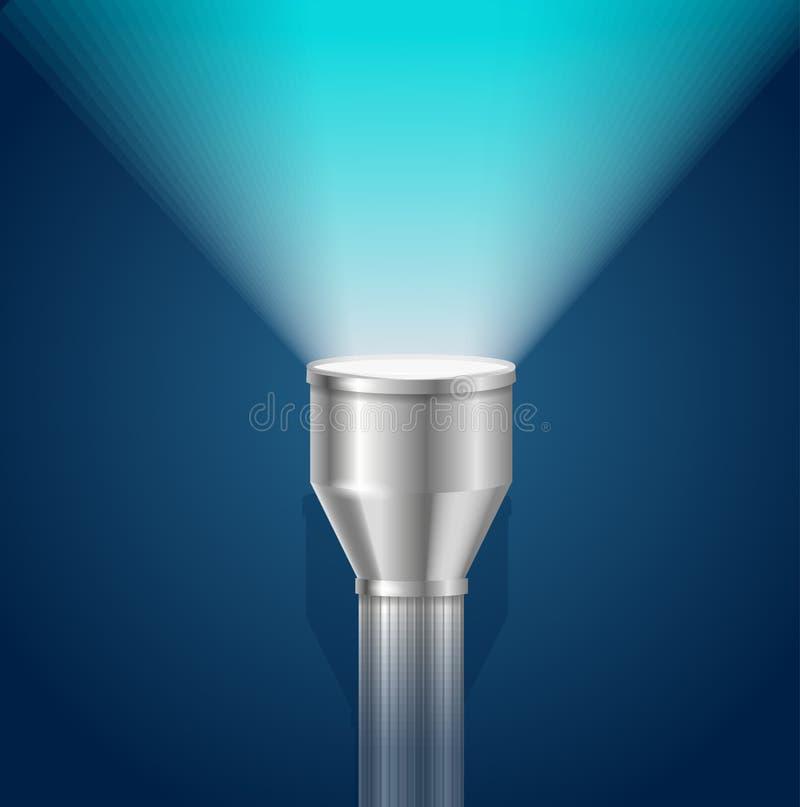Lampe-torche de lumière de torche de poche Vecteur illustration libre de droits