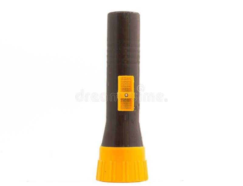 Lampe-torche en plastique de torche d'isolement image stock