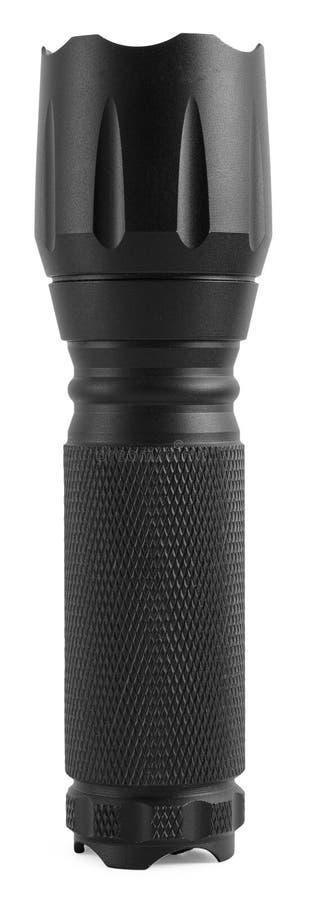 Lampe-torche noire photographie stock libre de droits