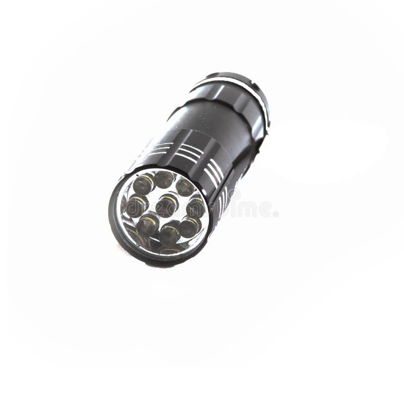 Lampe-torche noire de manière opérationnelle images libres de droits
