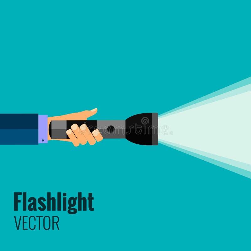 Lampe-torche plate illustration de vecteur