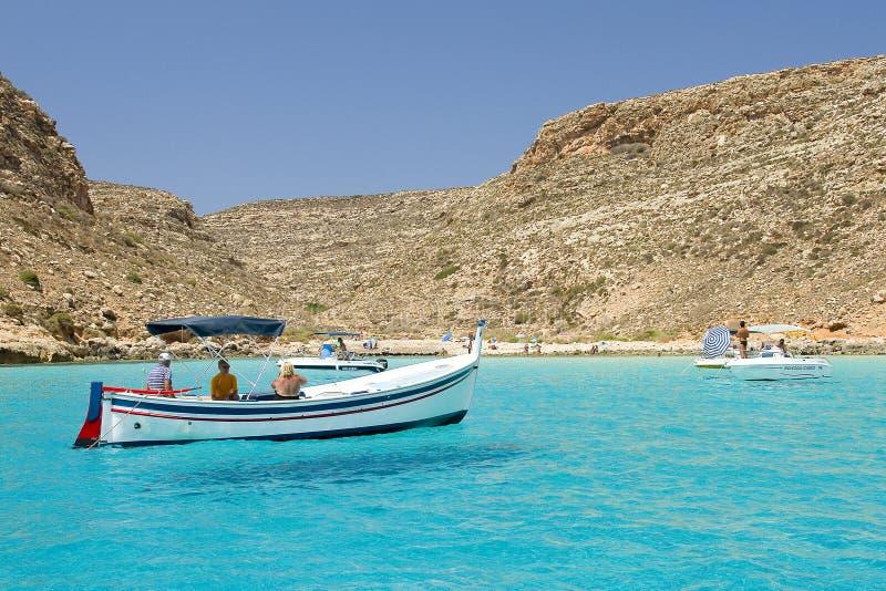 Lampedusa, Itália imagem de stock royalty free