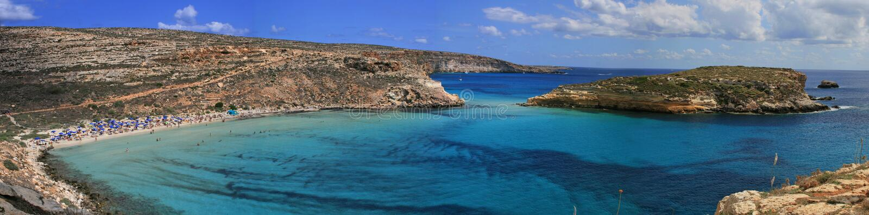 Lampedusa (Sicile) - île de lapins photographie stock libre de droits