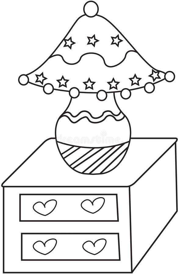 Lampekap kleurende pagina vector illustratie