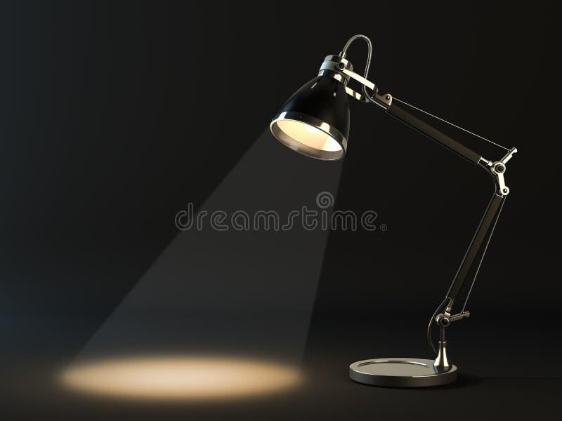 Lampekap op een donkere achtergrond royalty-vrije illustratie