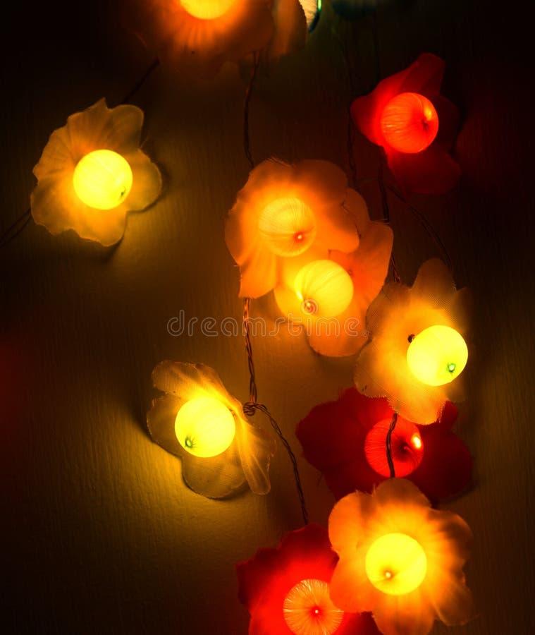Lampen bij nacht royalty-vrije stock foto
