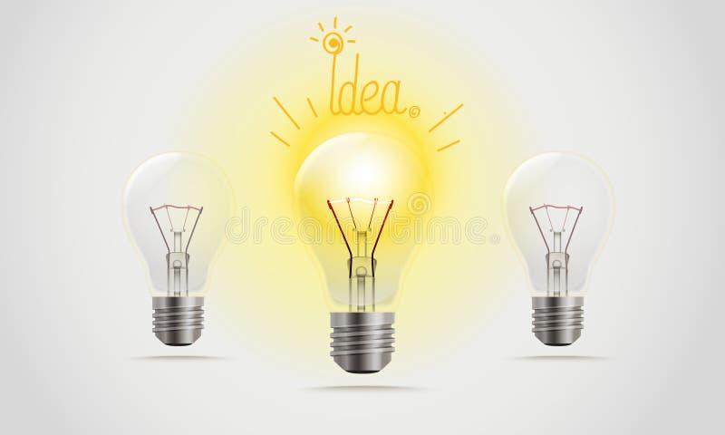 Lampen in einer Linie lizenzfreie abbildung