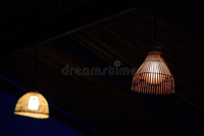 Lampen van rijs worden gemaakt dat stock foto's