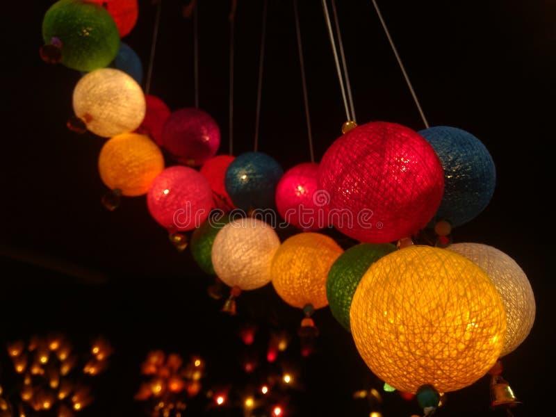 Lampen voor diwalifestival dat worden aangestoken stock fotografie