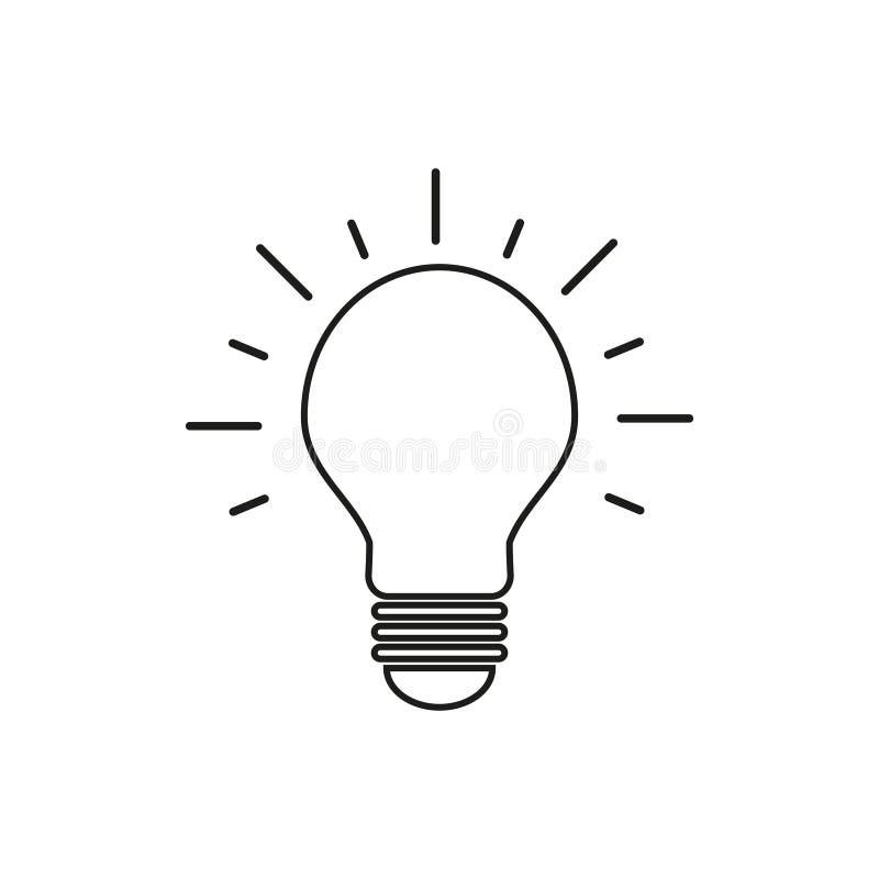 Lampenidee der Ikone vektor abbildung