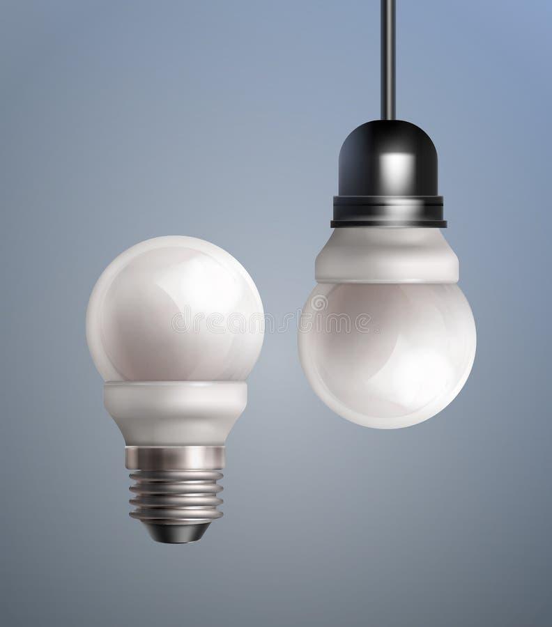Lampes économiseuses d'énergie illustration stock
