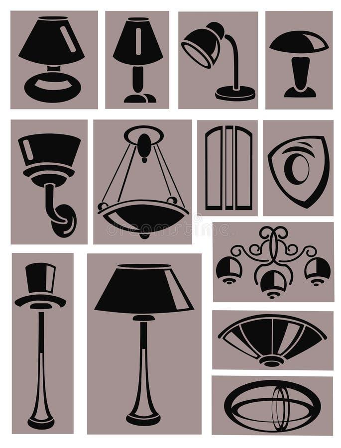 Lampes illustration libre de droits