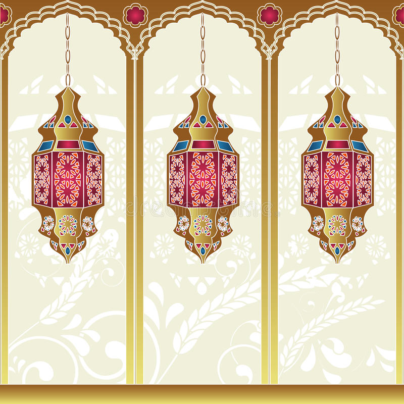 Lampes Arabes de type illustration libre de droits
