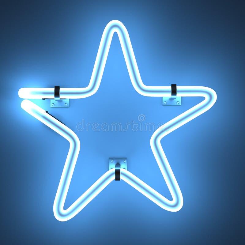 Lampes au néon - étoile illustration libre de droits