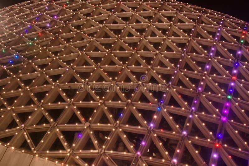 Lampes au néon avec différentes formes photographie stock