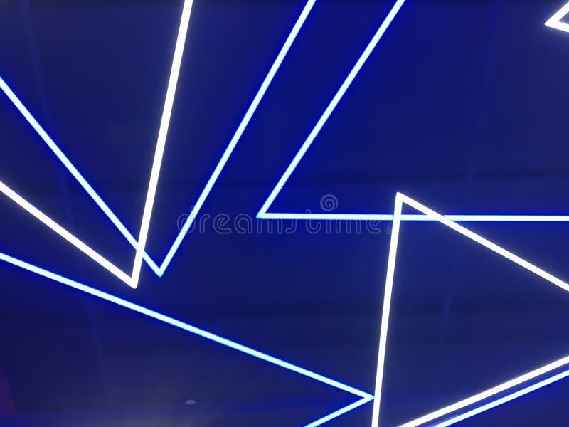 Lampes au néon bleues photo libre de droits