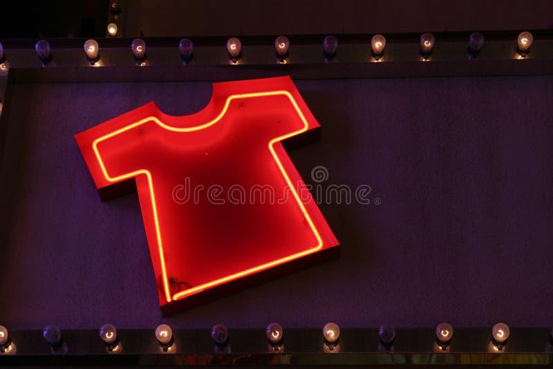 Lampes au néon de T-shirt images stock
