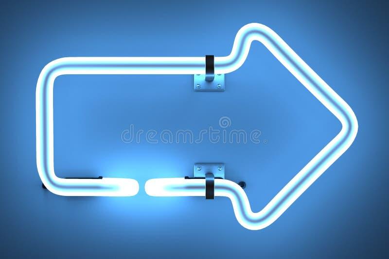 Lampes au néon - flèche illustration libre de droits