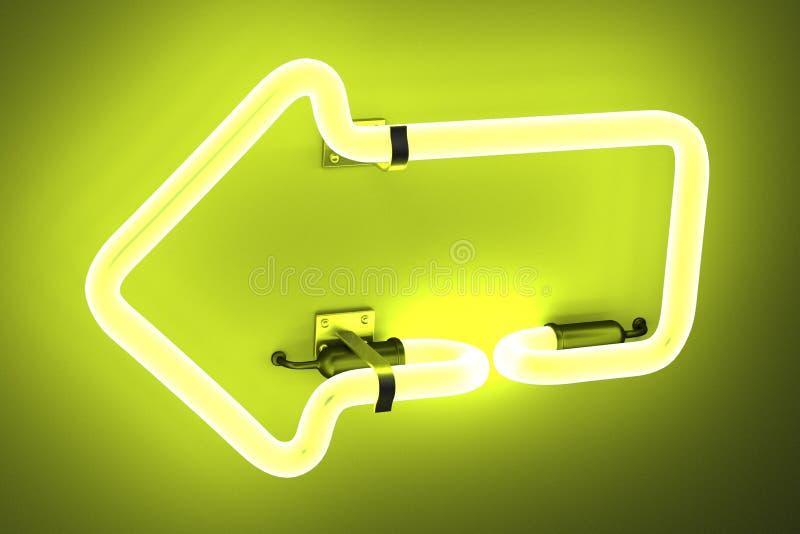 Lampes au néon - flèche illustration stock