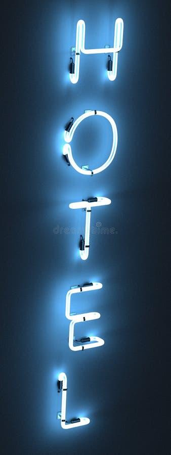 Lampes au néon - hôtel illustration libre de droits