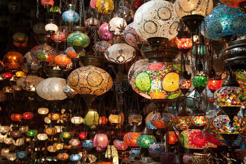 Lampes colorées photographie stock libre de droits