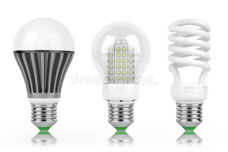 Lampes d'économie de LED illustration libre de droits