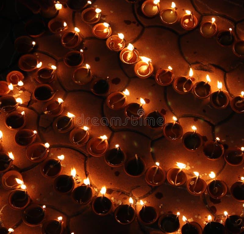 Lampes de Diwali image libre de droits