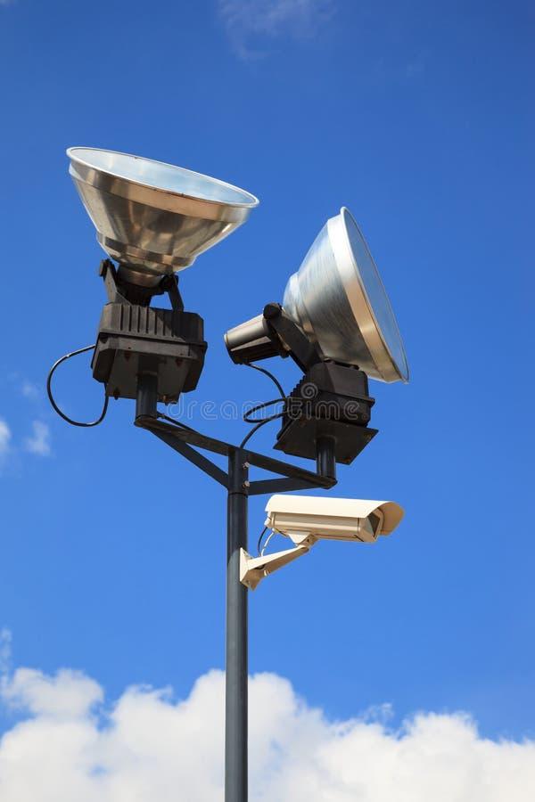Lampes de la caméra de sécurité NAD photographie stock