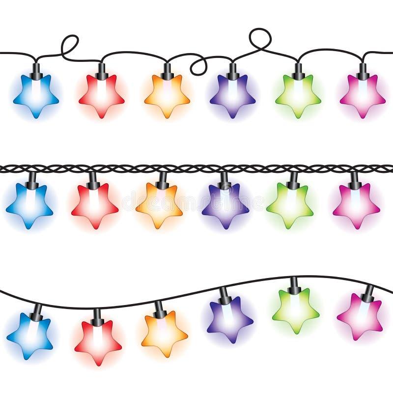 Lampes de lumière de Noël illustration stock