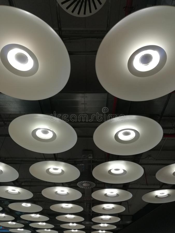 Lampes de plafond images libres de droits