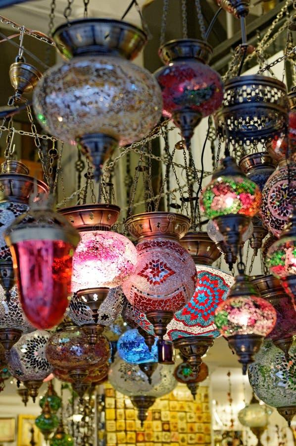Lampes en verre  photographie stock